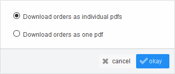 Order download options