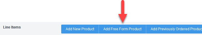 'Add Free Form Product' button
