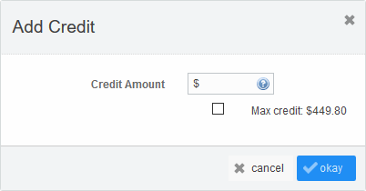 'Add Credit' button