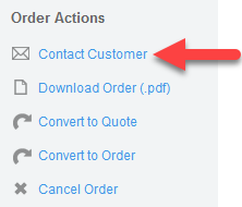 'Contact Customer' action