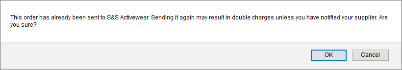 resend confirmation dialog