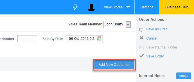 'Add New Customer' Button