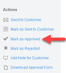 'Mark as Approved' action
