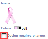 'Design requires changes' checkbox
