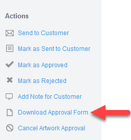 'Download Approval Form' Action